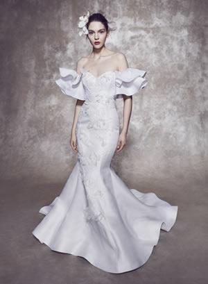 jennifers bridal marchesa collection pic